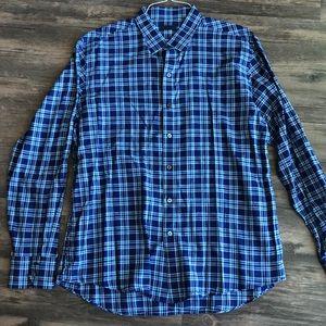 Zachary Prell Blue Plaid Button Up Shirt